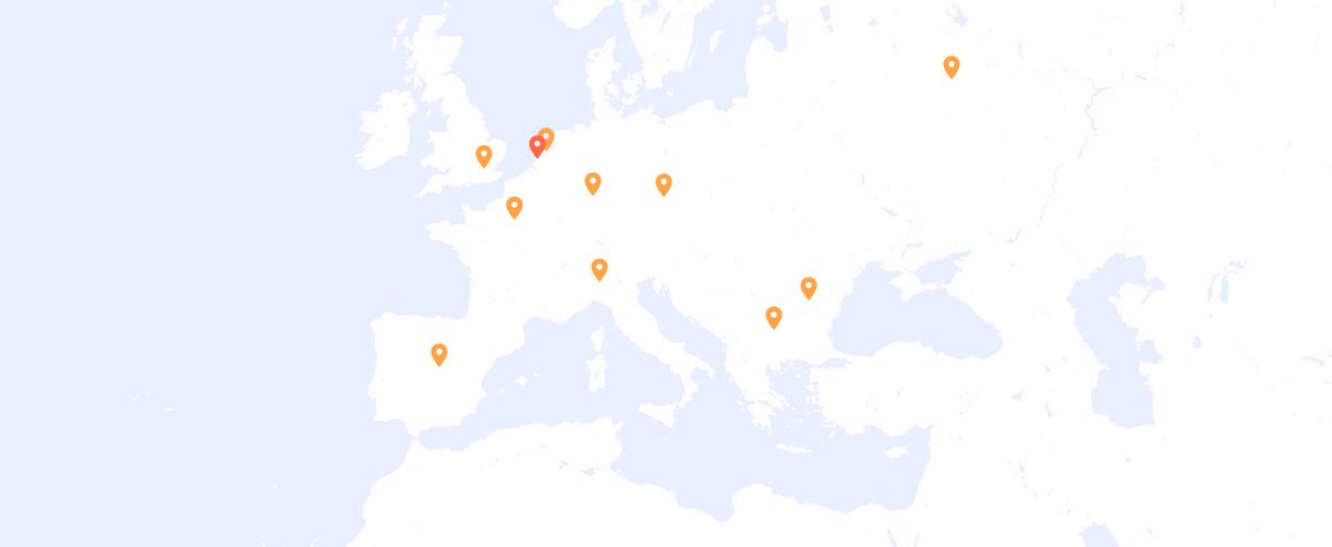 PUSHR CDN Europe points of presence